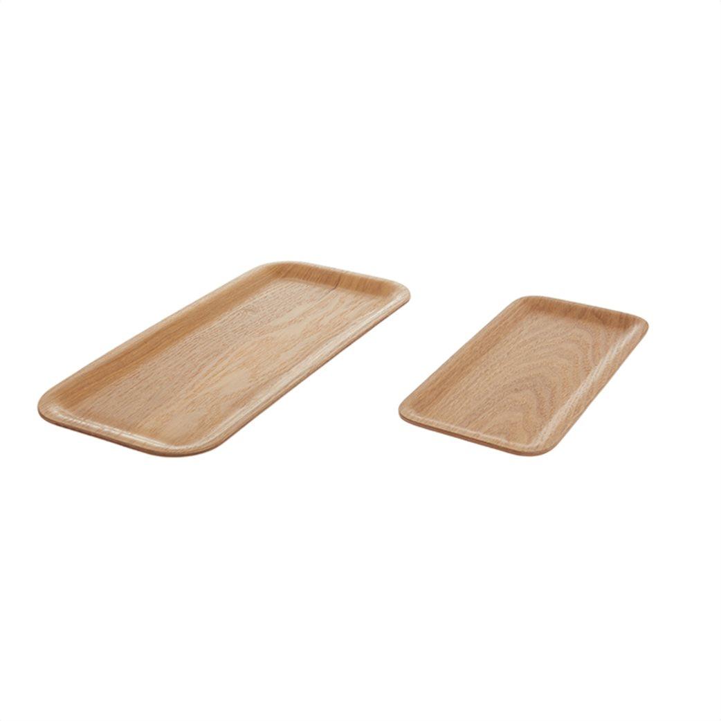 Coincasa διακοσμητικός ξύλινος δίσκος 15 x 34 cm 1