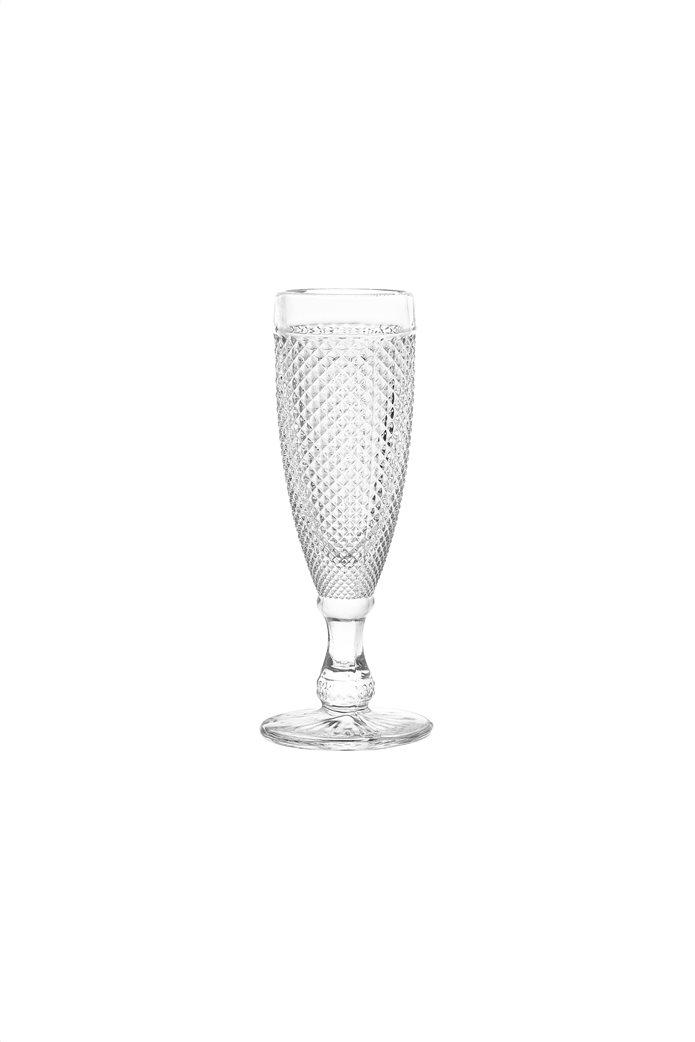 Coincasa κολωνάτo γυάλινo ποτήρι Diamond-cut effect 18 cm 0