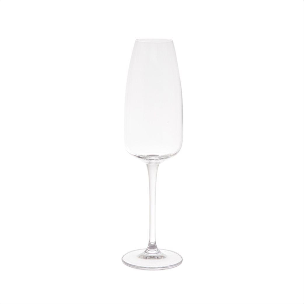 Coincasa σετ από 6 κρυστάλλινα κολωνάτα ποτήρια με στενό χείλος 25 x 4.5 cm Διάφανο 1