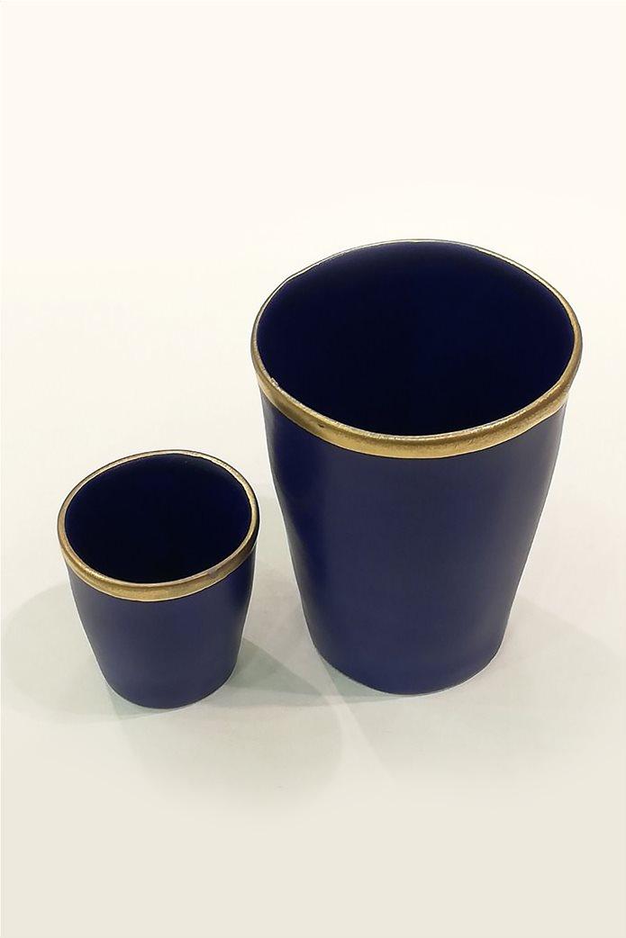 Coincasa διακοσμητικό κεραμικό βάζο με χρυσή λεπτομέρεια 8,5 x 11 cm 0