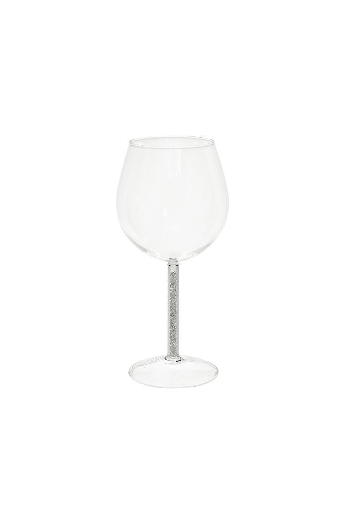 Coincasa γυάλινο ποτήρι κρασιού με glitter λεπτομέρεια 8,5 x 18,5 cm 0