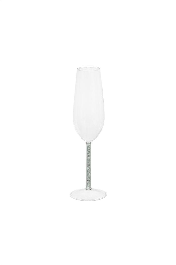 Coincasa γυάλινο κολωνάτο ποτήρι με glitter 7 x 24 cm 0