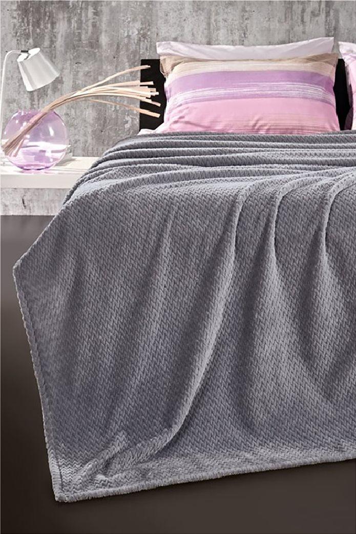 Guy Laroche fleece κουβέρτα μονή ''Rombus Silver'' 160 χ 220 cm 0