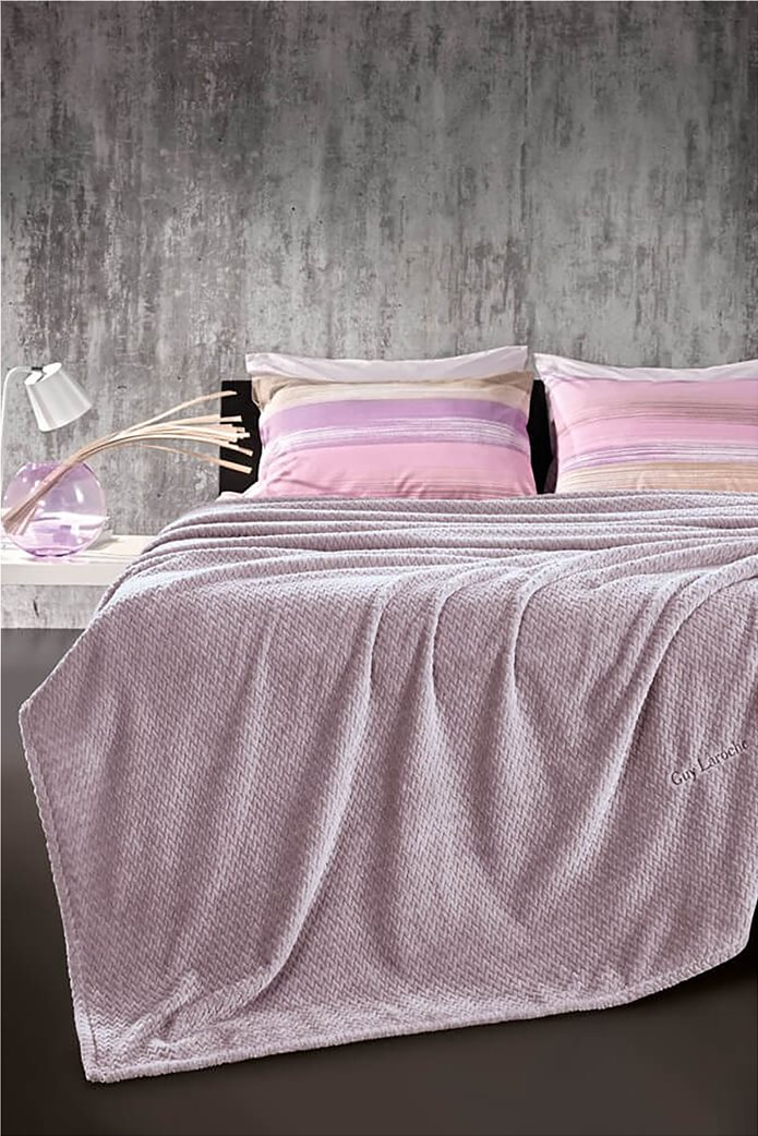 Guy Laroche fleece κουβέρτα μονή ''Rombus Lilac'' 160 χ 220 cm 0