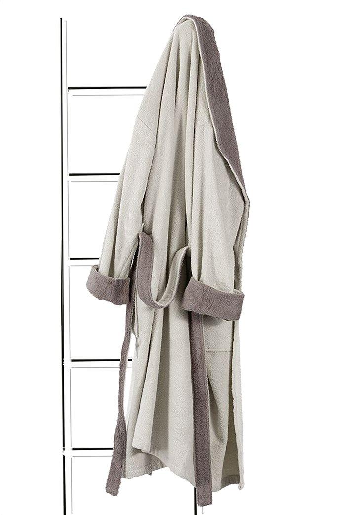 Guy Laroche μπουρνούζι με κουκούλα Duo Natural (Extra Large) Εκρού 0