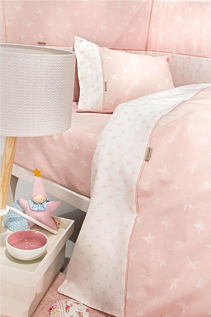 Guy Laroche σετ βρεφικά σεντόνια κούνιας με star print ''Heaven Pink'' (3 τεμάχια) 1