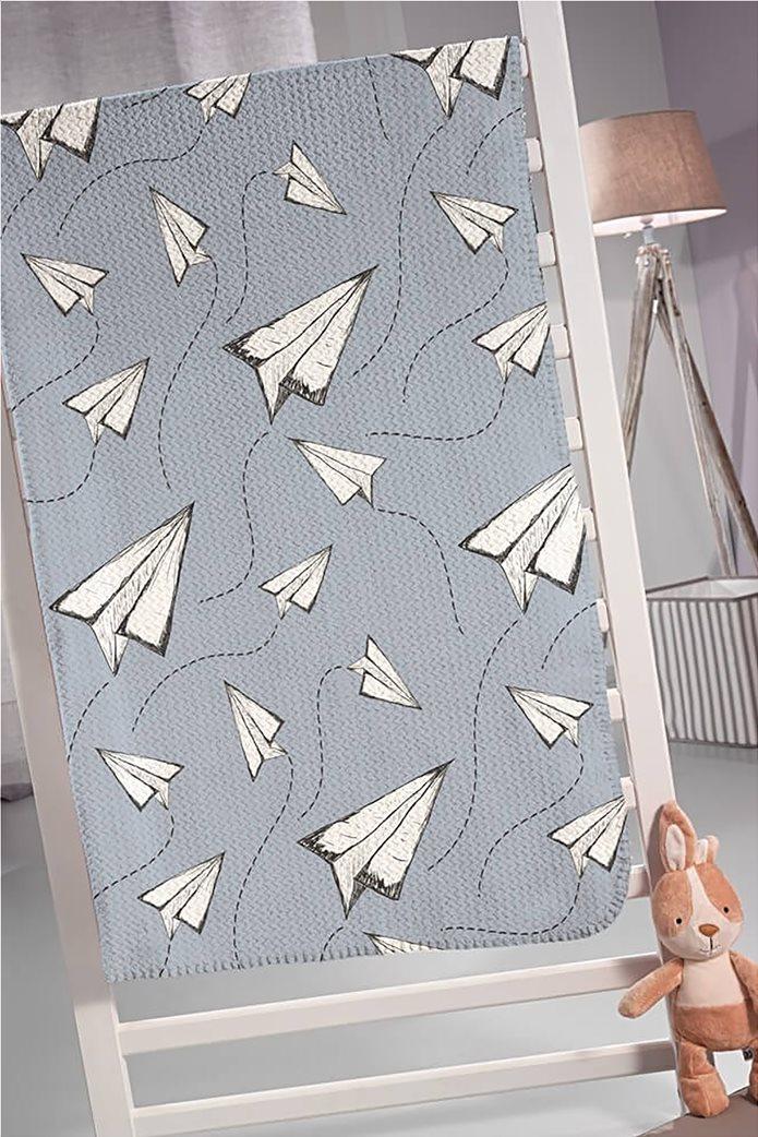 Guy Laroche παιδική μονή κουβέρτα με print ''Ultrasoft Fly'' 160 x 220 cm 0