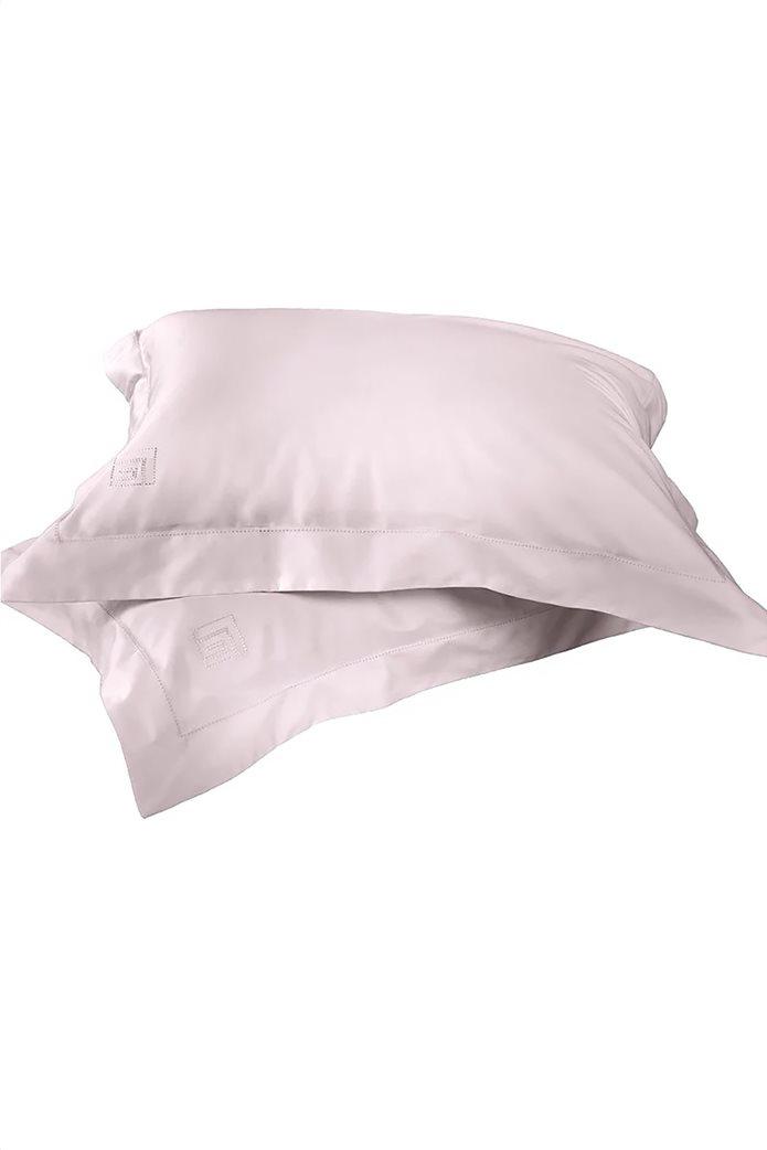 """Guy Laroche σετ μαξιλαροθήκες oxford με κεντημένο logo """"Silky"""" (2 τεμάχια) Λιλά 0"""