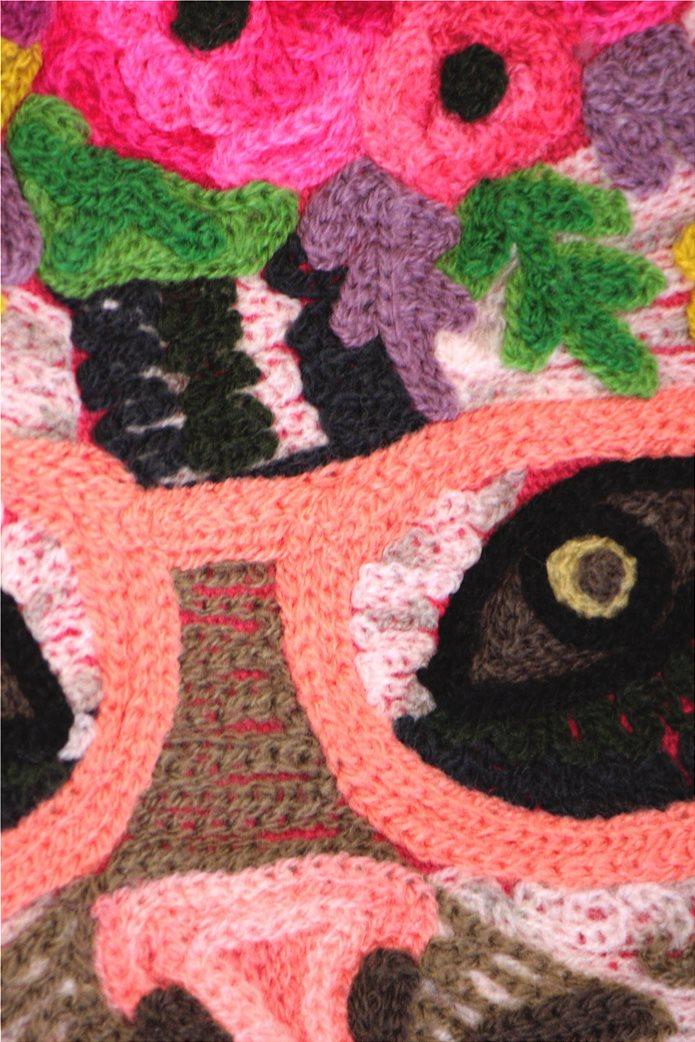 Synchronia γυναικεία τσάντα ώμου με κεντημένο σχέδιο γάτα 3