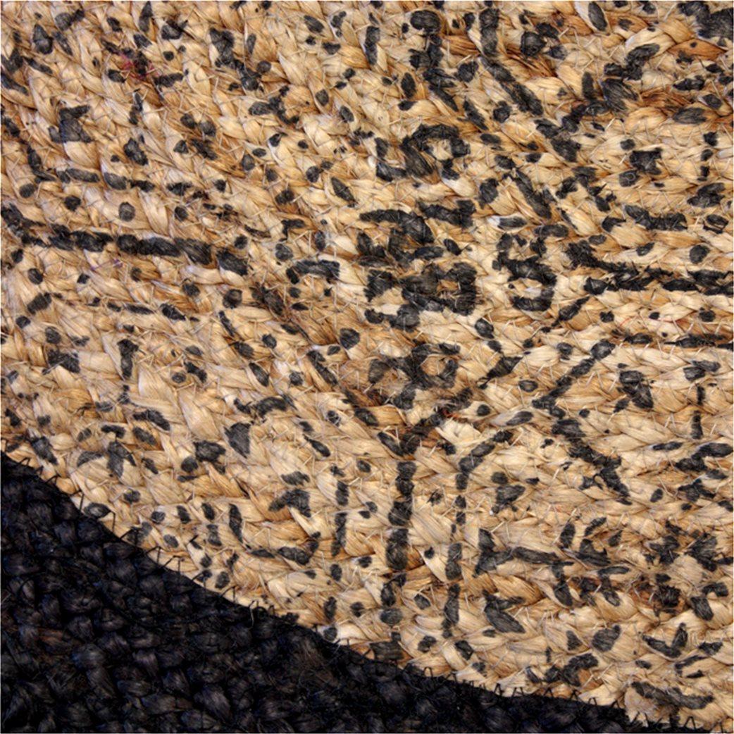Synchronia χαλί ψάθινο στρογγυλό με σχέδια 90 cm 2