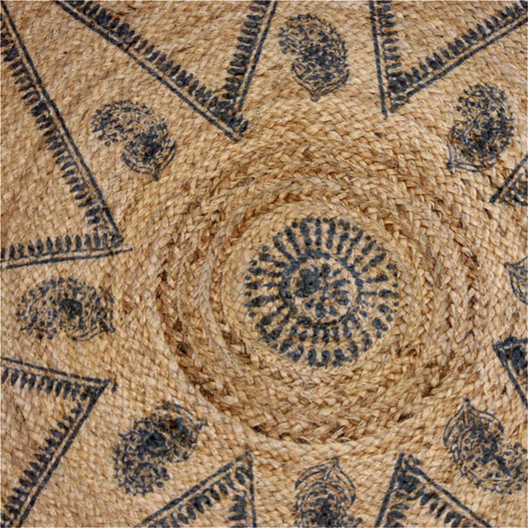 Synchronia χαλί ψάθινο στρογγυλό με σχέδιo αστέρι 90 cm 3