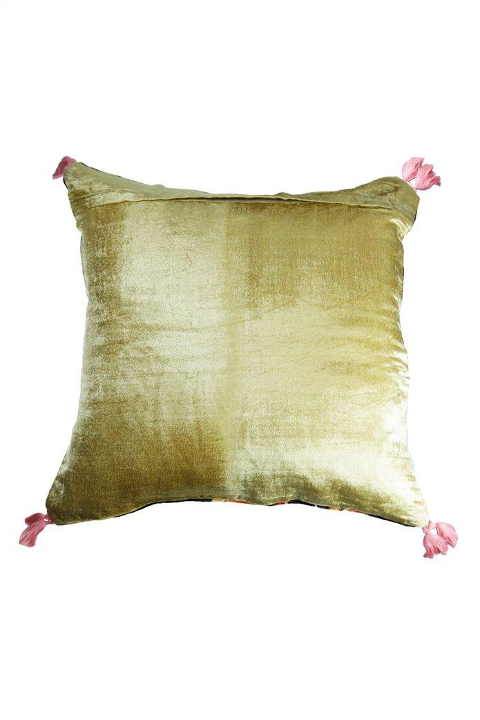 Synchronia διακοσμητικό βελούδινο μαξιλάρι κολίμπρι 50 x 50 cm 1