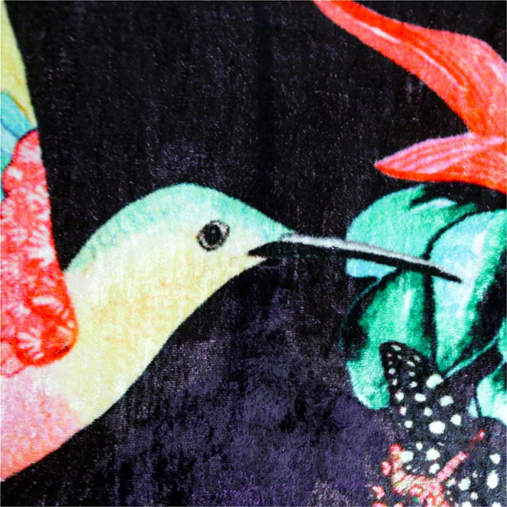 Synchronia διακοσμητικό βελούδινο μαξιλάρι κολίμπρι 50 x 50 cm 3
