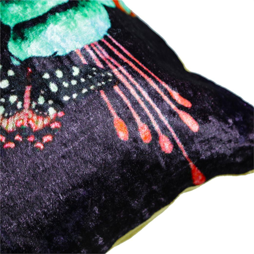 Synchronia διακοσμητικό βελούδινο μαξιλάρι κολίμπρι 50 x 50 cm 4