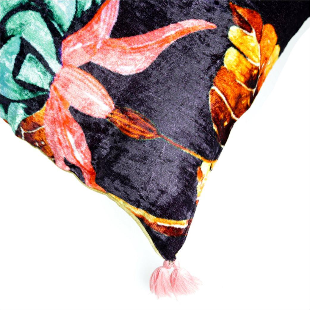 Synchronia διακοσμητικό βελούδινο μαξιλάρι κολίμπρι 50 x 50 cm 5