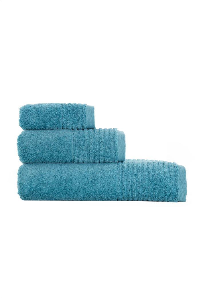 "NEF-NEF πετσέτα χεριών με ανάγλυφο ριγέ τελείωμα ""Organic 640"" 30 x 50 cm 0"