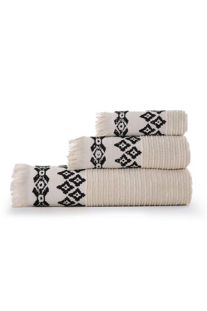 "NEF-NEF πετσέτα χεριών με jacquard σχέδια και κρόσσια ""Arabi"" 30 x 50 cm 1"