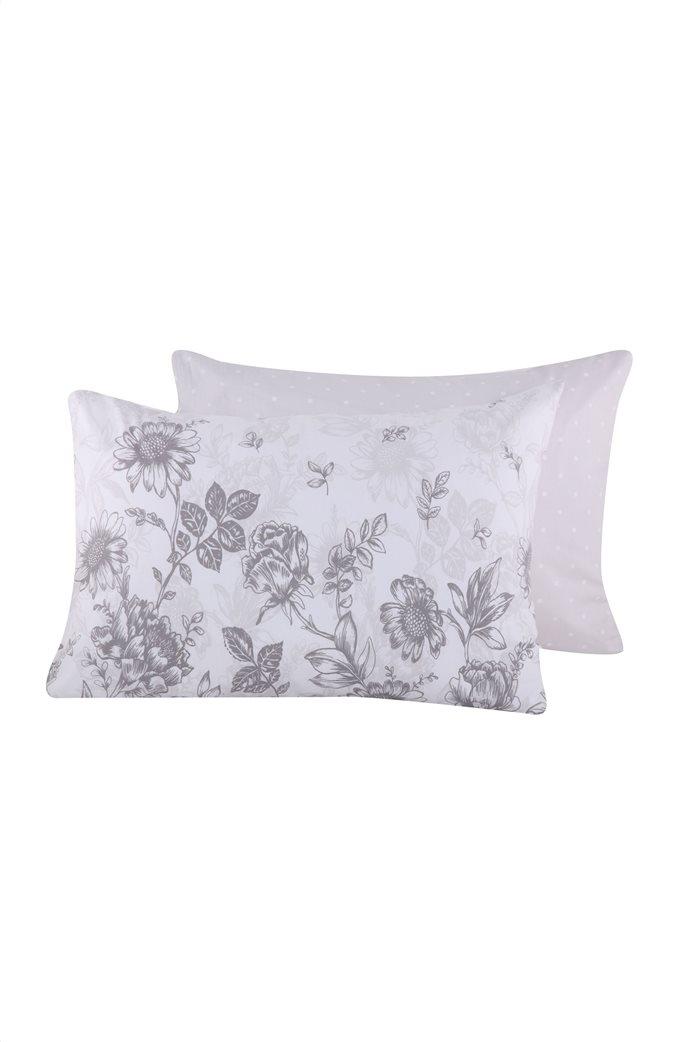 "NEF-NEF μαξιλαροθήκη διπλής όψης με floral print ""Correta"" 52 x 72 cm 0"