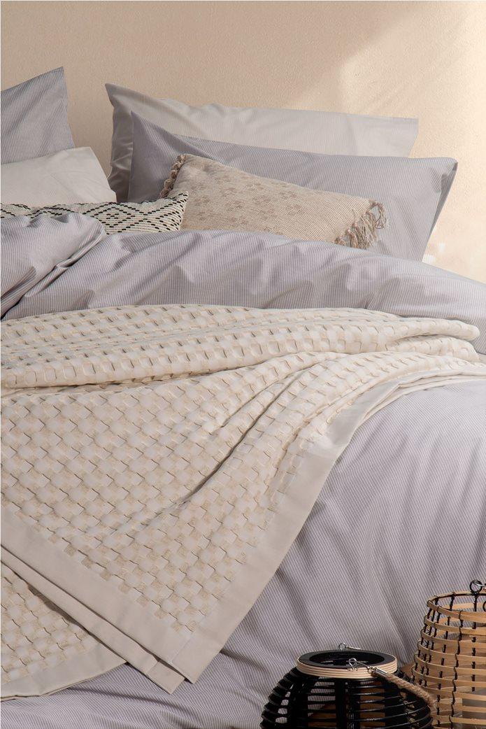 "NEF-NEF κουβέρτα υπέρδιπλη πικέ με ανάγλυφο σχέδιο ""Organic"" 230 x 240 cm 0"