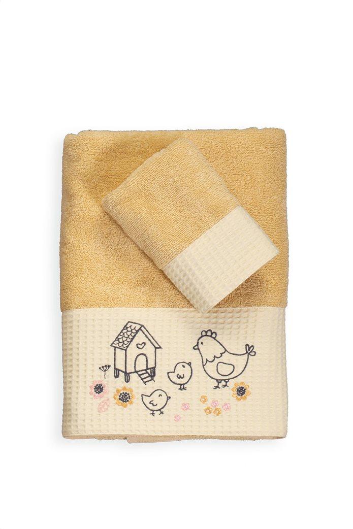 NEF-NEF σετ βρεφικές πετσέτες με κεντημένες λεπτομέρειες ''Lovely family'' (2 τεμάχια) 0