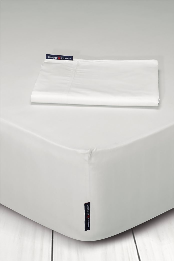 """Greenwich Polo Club σεντόνι υπέρδιπλο με λάστιχο """"2200 Queen"""" 160 x 200 + 35 cm (1 τεμάχιο) Εκρού 0"""