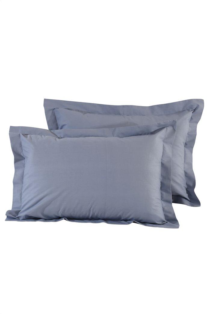 "Das home σετ μαξιλαροθήκες ""1006 Colour Best"" 50 x 70 + 5 cm (2 τεμάχια) Μπλε 0"
