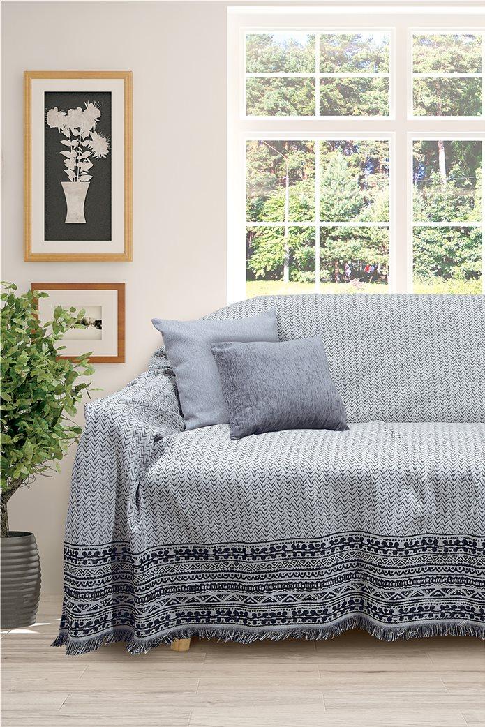 "Das home ριχτάρι με διακοσμητικό σχέδιο και κρόσσια στο τελείωμα ""0167 Throws"" 180 x 250 cm 0"