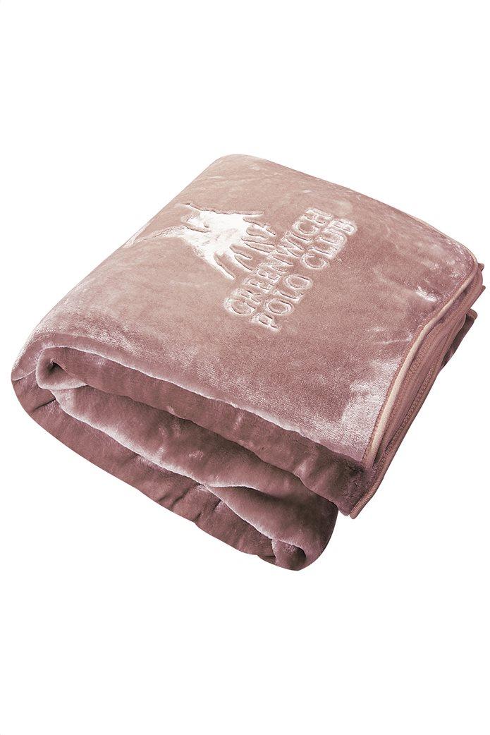 """Greenwich Polo Club μονή κουβέρτα βελουτέ """"2453"""" 160 x 240 cm 1"""