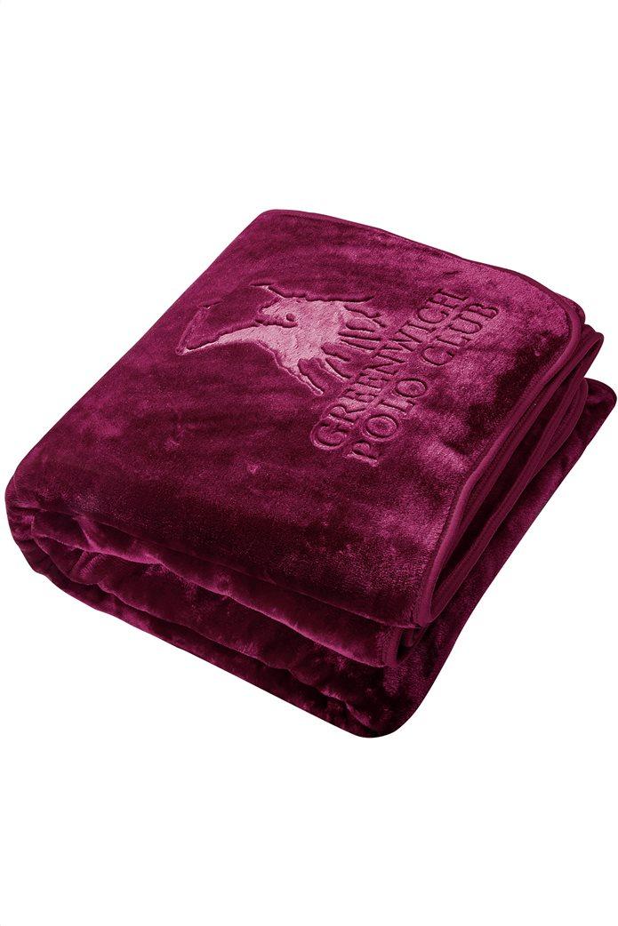 "Greenwich Polo Club υπέρδιπλη κουβέρτα βελουτέ ""2454"" 220 x 240 cm 1"