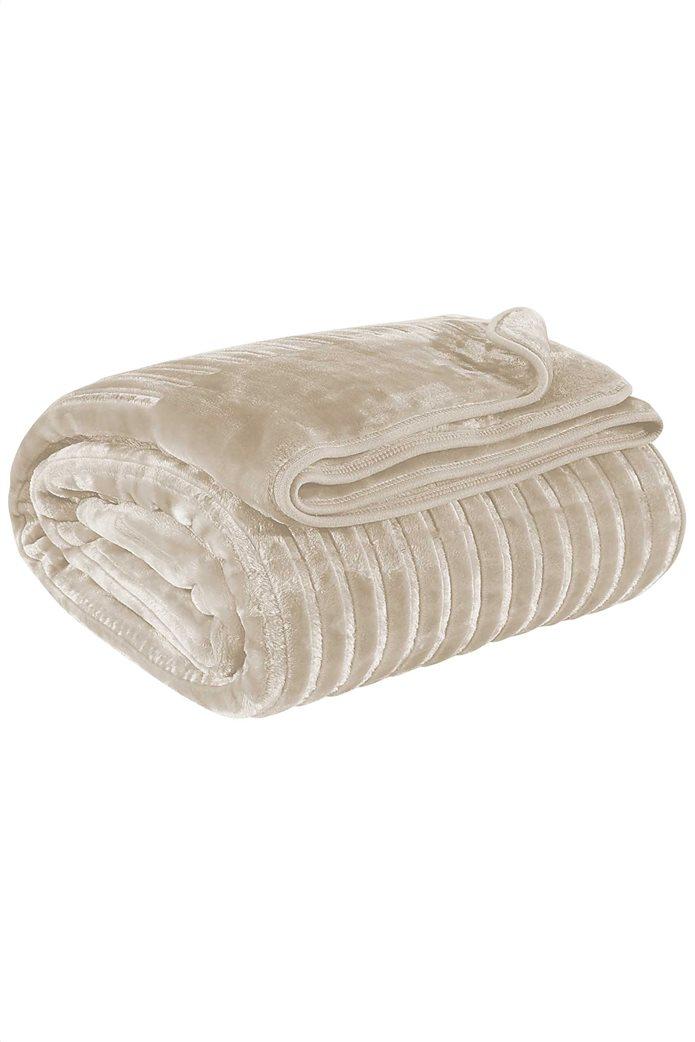 """Das home μονή κουβέρτα velour με ανάγλυφη υφή """"0445"""" 160 x 240 cm 1"""
