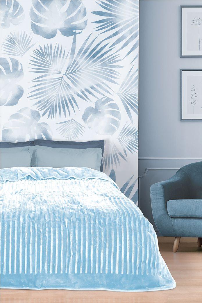 """Das home μονή κουβέρτα velour με ανάγλυφη υφή """"0447"""" 160 x 240 cm 0"""