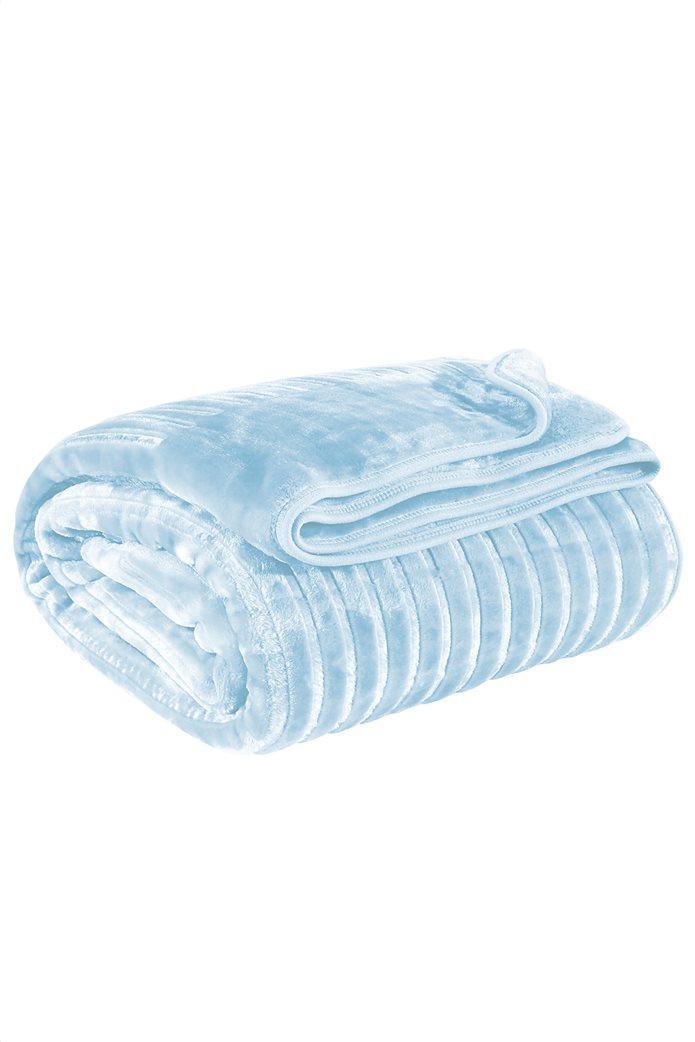 """Das home μονή κουβέρτα velour με ανάγλυφη υφή """"0447"""" 160 x 240 cm 1"""