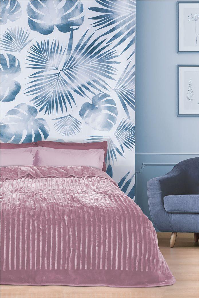 """Das home μονή κουβέρτα velour με ανάγλυφη υφή """"0449"""" 160 x 240 cm 0"""