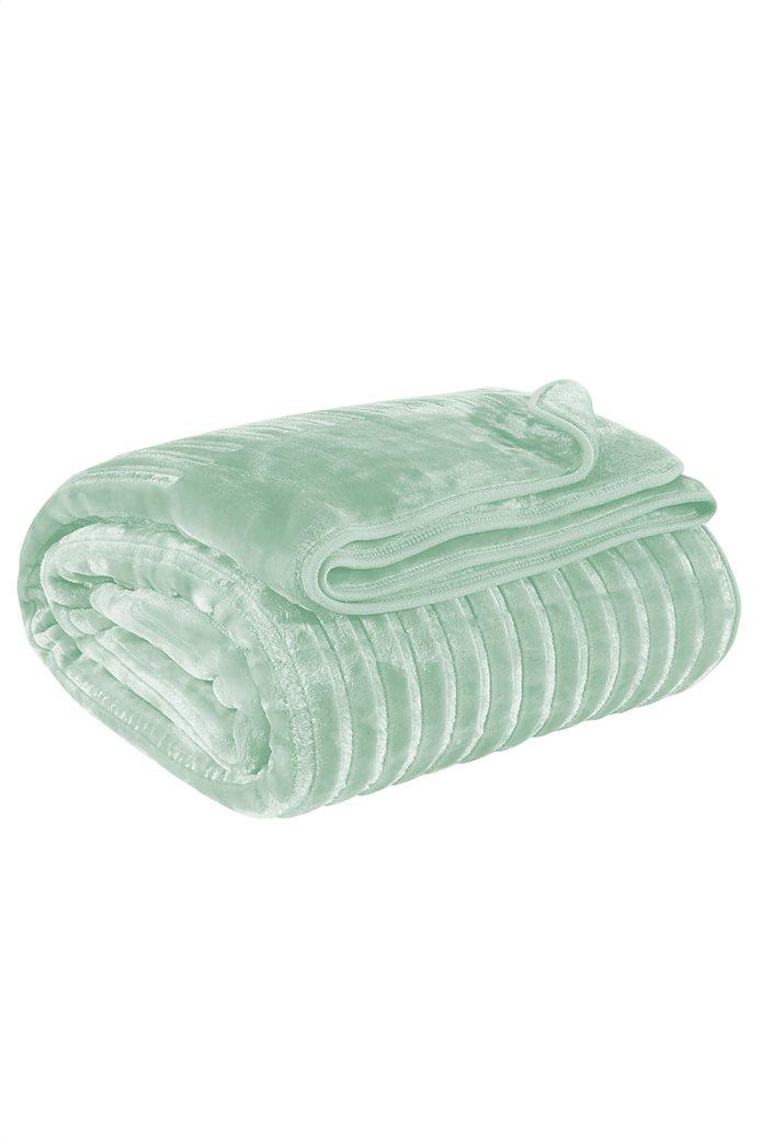 """Das home μονή κουβέρτα velour με ανάγλυφη υφή """"0450"""" 160 x 240 cm 1"""