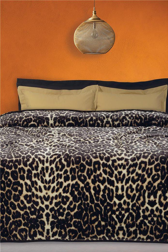 "Das home μονή κουβέρτα velour με animal print ""0452"" 160 x 220 cm 0"