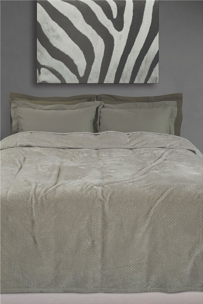 "Das home υπέρδιπλη κουβέρτα fleece με ανάγλυφο σχέδιο ""0443"" 220 x 240 cm 0"