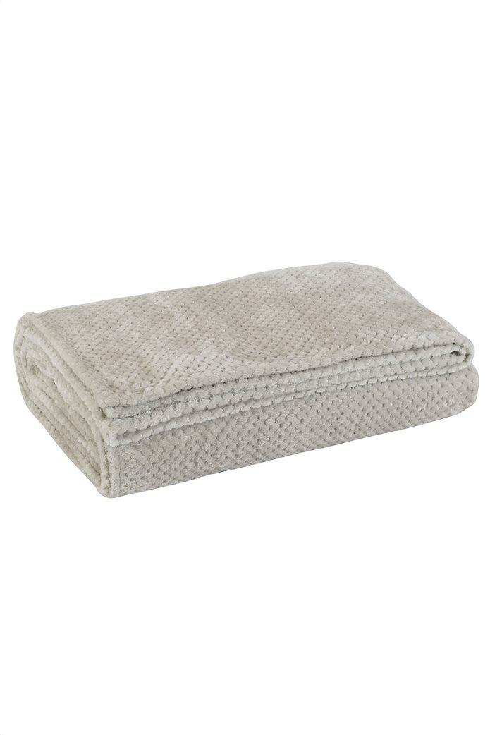 "Das home υπέρδιπλη κουβέρτα fleece με ανάγλυφο σχέδιο ""0443"" 220 x 240 cm 1"