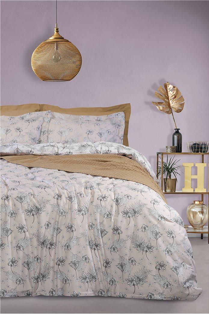 "Das home σετ υπέρδιπλα σεντόνια με floral print ""4740 Best"" (4 τεμάχια) Εκρού 0"