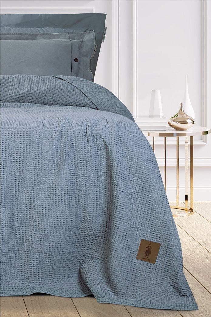 """Greenwich Polo Club μονή πικέ κουβέρτα """"2462"""" 160 x 240 cm Γκρι 1"""