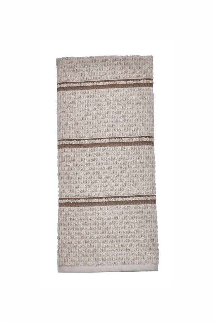 "Kentia πετσέτα κουζίνας με ανάγλυφο ""Nobre 18"" 40 x 60 cm Μπεζ 0"