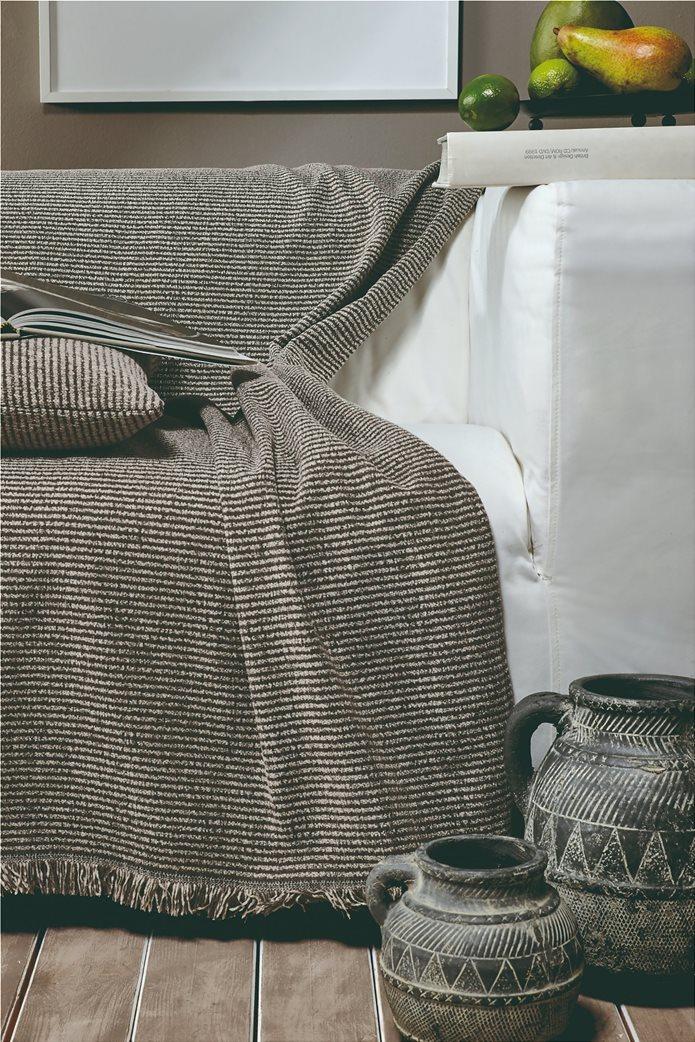 "Kentia ριγέ ριχτάρι διθέσιου καναπέ με κρόσσια ""Ribbon 34"" 180 x 250 cm 1"