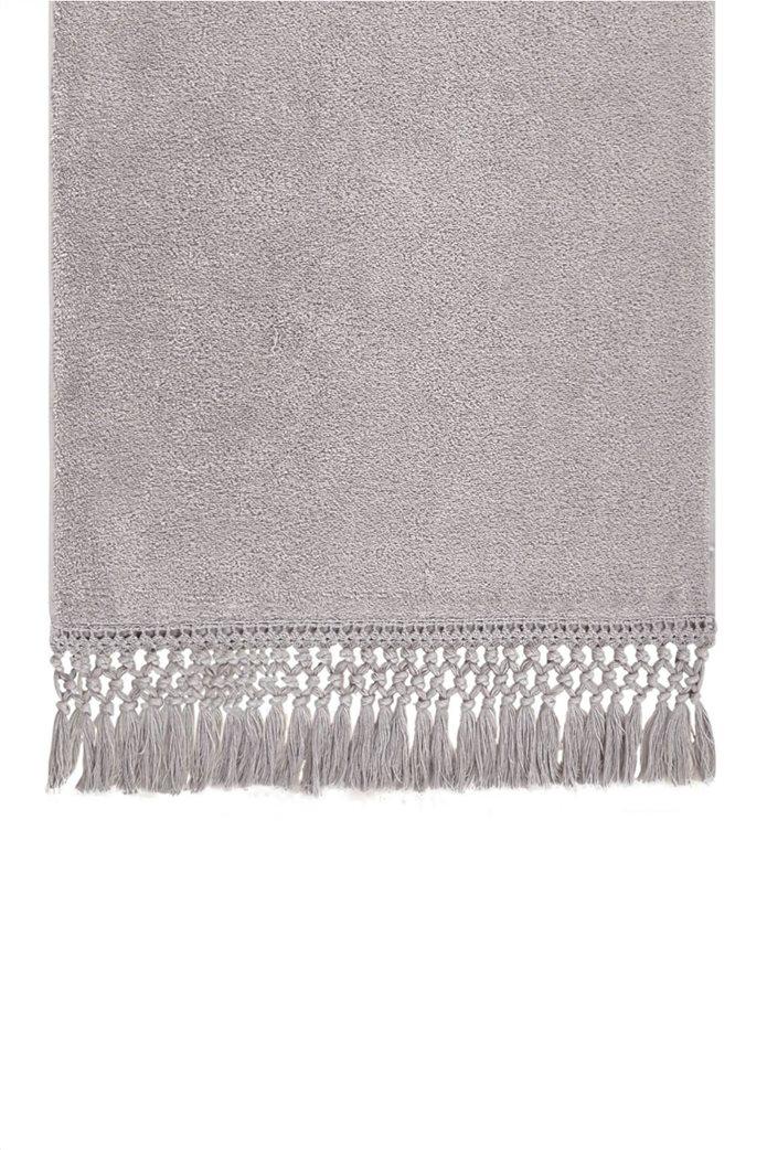 """Kentia πετσέτα προσώπου με κρόσσια """"Duna 22"""" 50 x 90 cm Γκρι 0"""