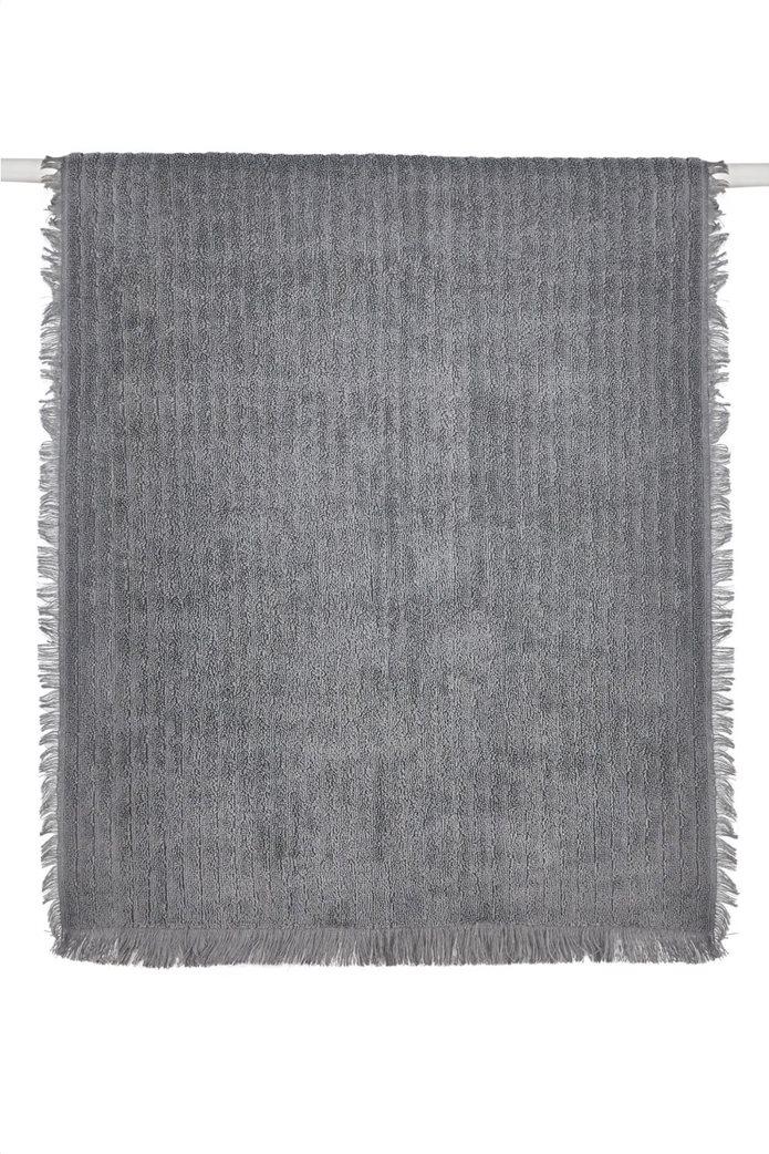 """Kentia πετσέτα σώματος με ανάγλυφο ριγέ σχέδιο """"Harley 22"""" 70 x 140 cm Γκρι 0"""