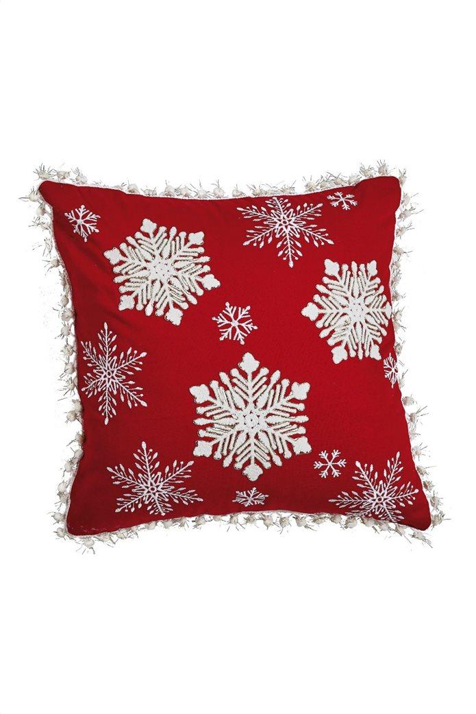 Kentia χριστουγεννιάτικη διακοσμητική μαξιλαροθήκη ''Snow 202'' 45 x 45 cm 0