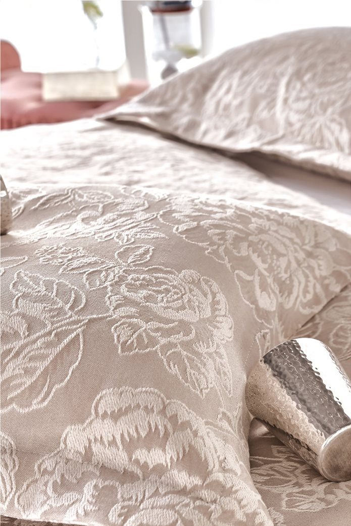 "Kentia διακοσμητική μαξιλαροθήκη με ανάγλυφο σχέδιο ""Cameron"" 50 x 70 cm Μπεζ 0"