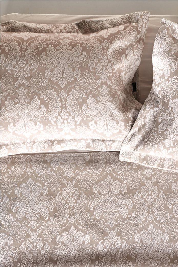 "Kentia διακοσμητική μαξιλαροθήκη με floral σχέδιο ""Cameron"" 50 x 70 cm Μπεζ 0"