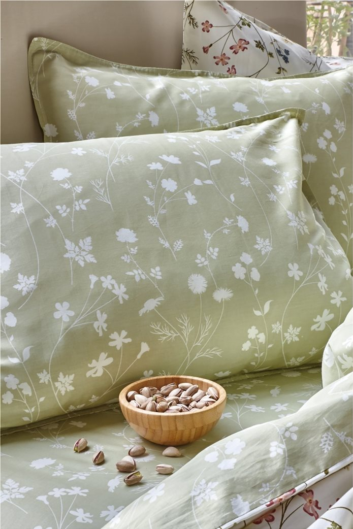 "Kentia σετ μαξιλαροθήκες με floral ""Miriam 18A"" (2 τεμάχια) Χακί 0"