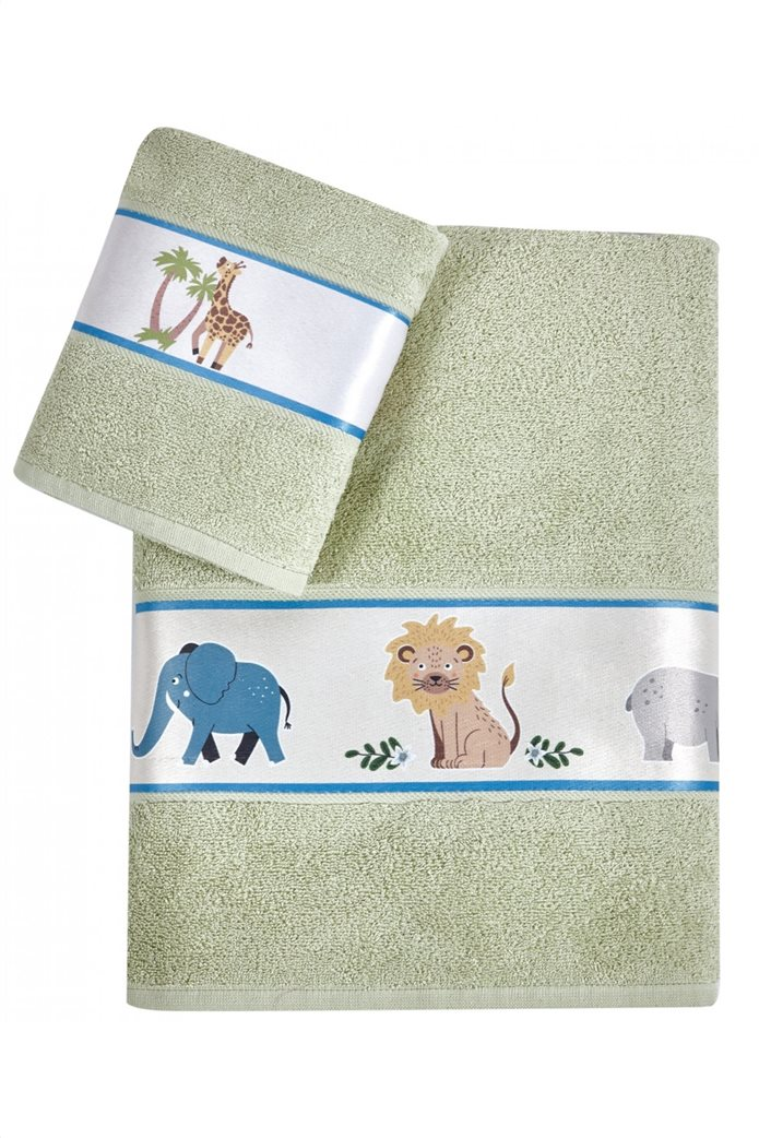 "Kentia σετ παιδικές πετσέτες με τρέσα ""Jungle"" (2 τεμάχια) 0"