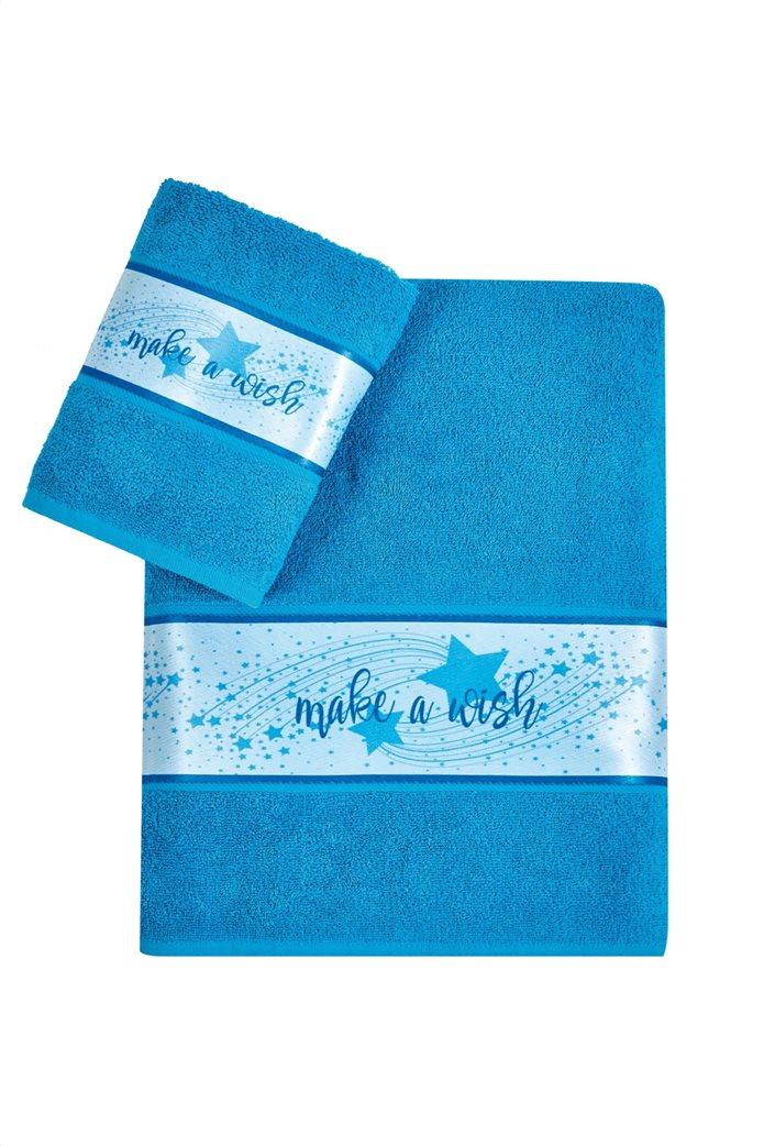 "Kentia σετ παιδικές πετσέτες με τρέσα ""Maw 08"" (2 τεμάχια) Μπλε 0"