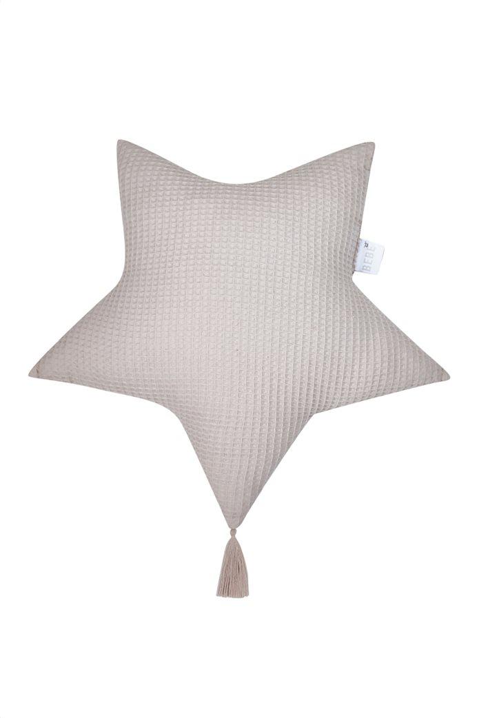 """Kentia διακοσμητικό μαξιλάρι σε σχήμα αστεριού """"Starla 22"""" 50 x 50 cm Γκρι 0"""
